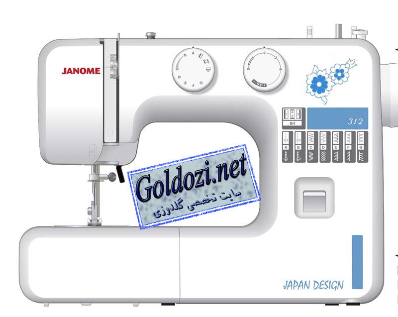 ژانومه مدل 311A,اپلیکه دوزی,طرح های گلدوزی,برودری دوزی,goldozi,embroidery,گلدوزی,goldozi.net