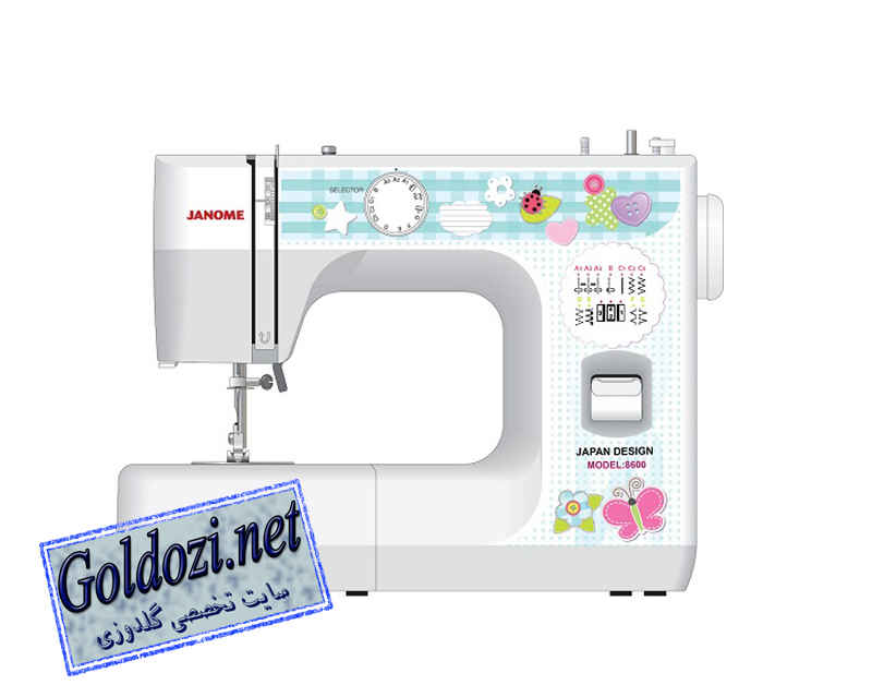 ژانومه مدل 8600,اپلیکه دوزی,طرح های گلدوزی,برودری دوزی,goldozi,embroidery,گلدوزی,goldozi.net